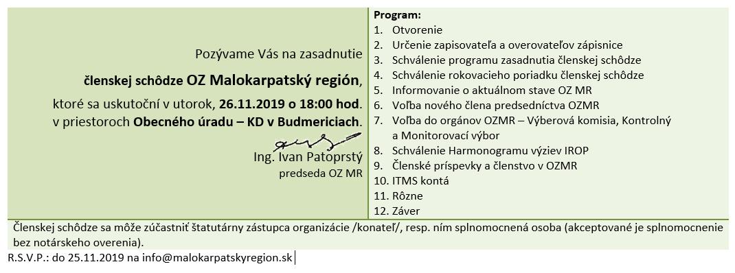 Pozvánka 26.11.2019